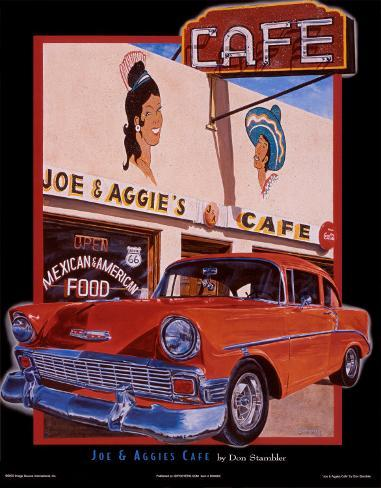 Joe & Aggies Cafe Art Print