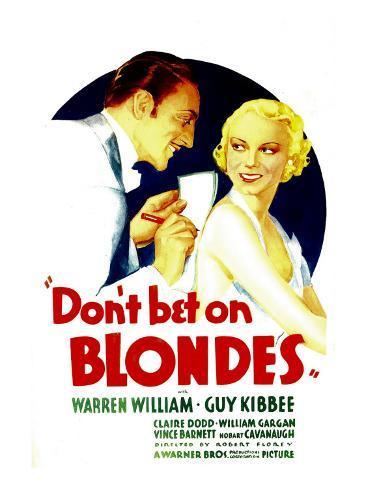Don't Bet on Blondes, Warren William, Claire Dodd on Midget Window Card, 1935 Foto
