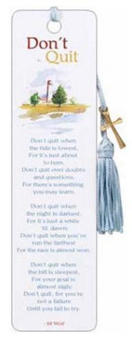 Don't Quit Poem Beaded Bookmark Bookmark