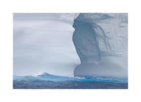 Towering Iceberg Sculptures Giclee Print