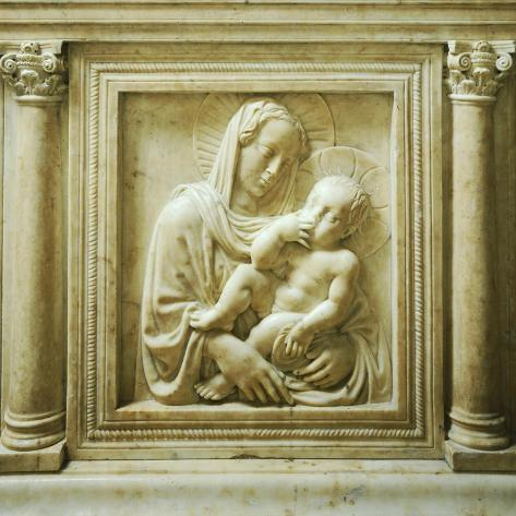 Madonna and Child, Detail from the Altar, Old Sacristy Giclee Print