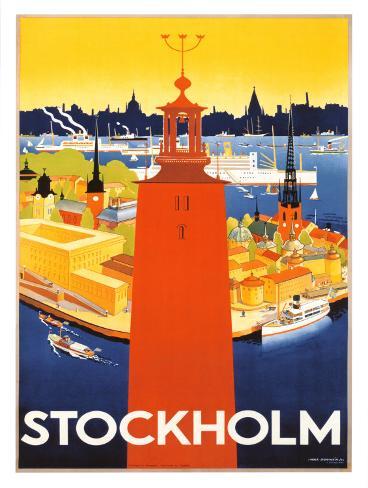 Stockholm Framed Art Print