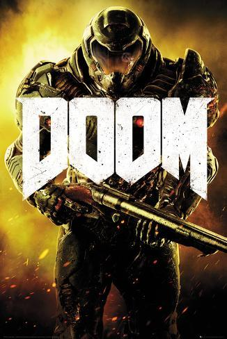 Doom- Armored Marine Poster