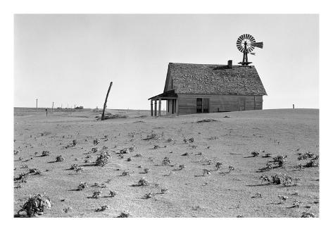 Dust Bowl Farm Art Print
