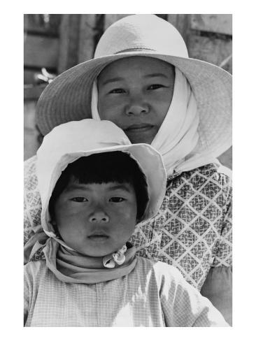 Japanese Mother and Daughter, Agricultural Workers Art Print