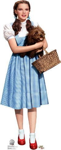 dorothy holding toto wizard of oz 75th anniversary lifesize standup cardboard cutouts
