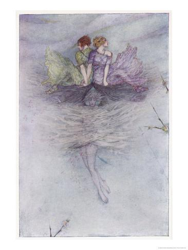 Zephyrus Carries Psyche's Sisters Stampa giclée