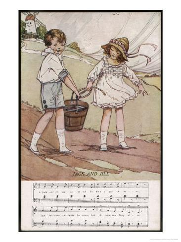 Jack and Jill Went up the Hill Giclee Print