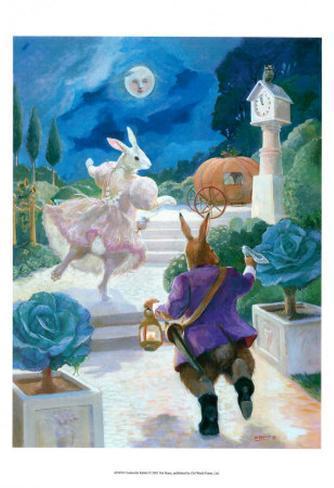 Cinderella Rabbit Art Print