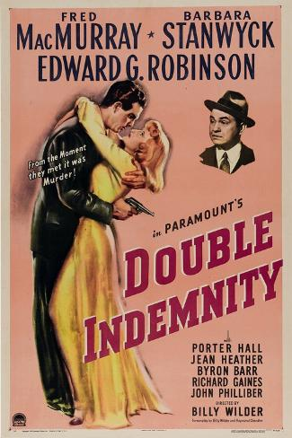 Double Indemnity, 1944, Directed by Billy Wilder Giclee Print