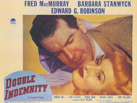 Double Indemnity, 1944 Art Print