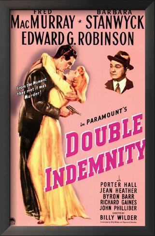 Double Indemnity Impressão artística emoldurada