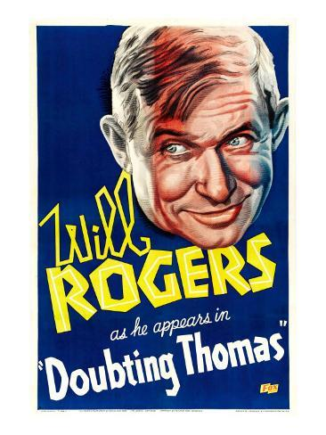 Doubting Thomas, Will Rogers, 1935 Photo