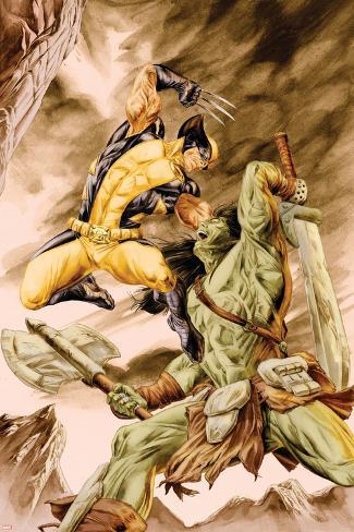 Wolverine Origins No.41 Cover: Wolverine and Skaar Poster