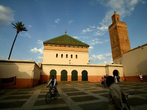Courtyard of Sidi Bel Abbes Mosque, Marrakesh, Morocco Photographic Print