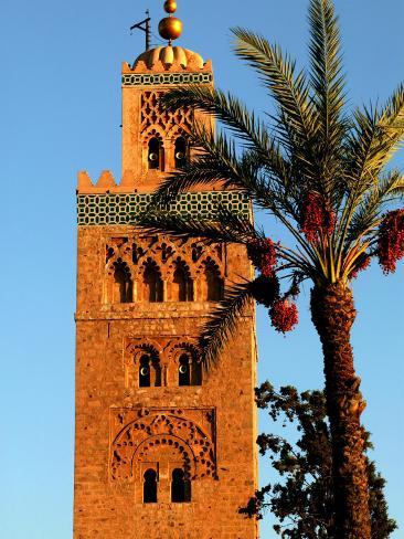 Koutoubia Mosque, Marrakesh, Morocco Photographic Print