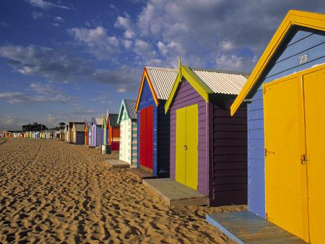 Bathing Huts, Port Phillip Bay, Melbourne, Victoria, Australia Photographic Print