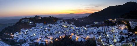 Casares at Sunset, Casares, Malaga Province, Andalusia, Spain Photographic Print