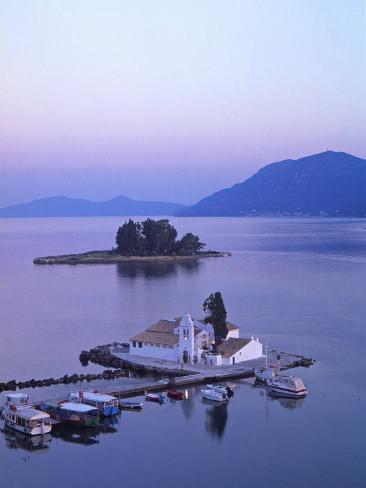 Convent of Vlachernas, Kanoni Peninsula, Corfu, Greece Photographic Print