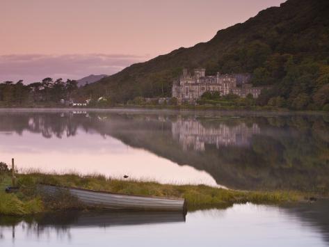 Kylemore Lake, Connemara National Park, Connemara, Co, Galway, Ireland Photographic Print