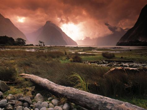 Milford Sound, Fiordland, South Island, New Zealand Photographic Print