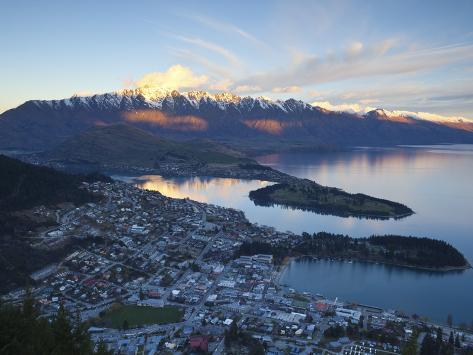 Queenstown Overview, Queenstown, Central Otago, South Island, New Zealand Photographic Print