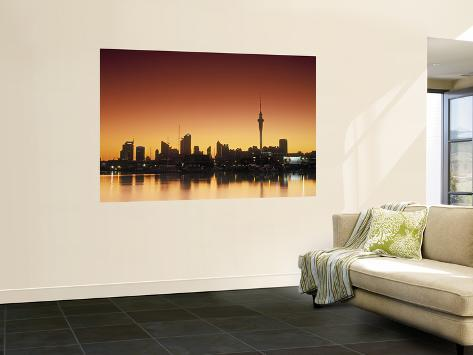 Skyline of Auckland, North Island, New Zealand Wall Mural