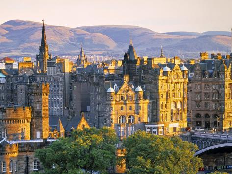 Skyline of Edinburgh, Scotland Photographic Print