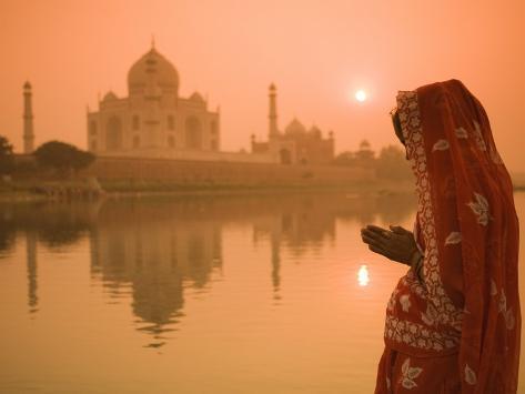 Taj mahal agra uttar pradesh india photographic print for Agra fine indian cuisine menu