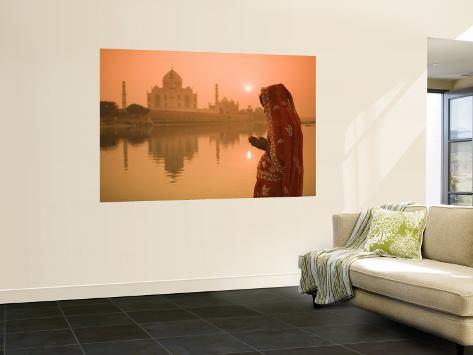 Taj Mahal, Agra, Uttar Pradesh, India Wall Mural