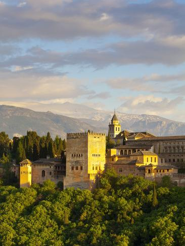The Alhambra Palace, Granada, Granada Province, Andalucia, Spain Photographic Print