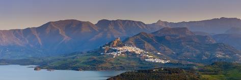The Whitewashed Village of Zahara De La Sierra at Sunset, Zahara De La Sierra, Cadiz Province, Anda Photographic Print