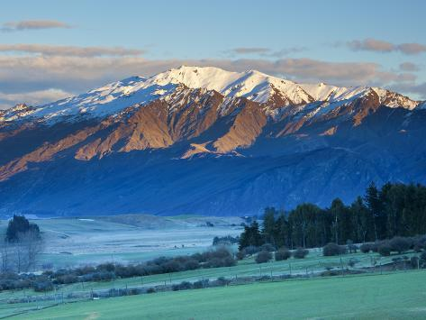 View Towards Coronet Peak Ski Field, Queenstown, Central Otago, South Island, New Zealand Photographic Print