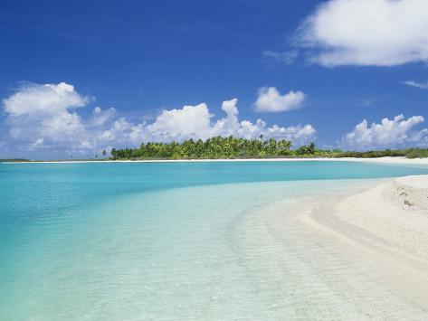 Beach, Rangiroa, French Polynesia Photographic Print