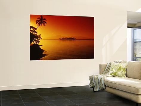 Sunset, Moorea, French Polynesia Wall Mural