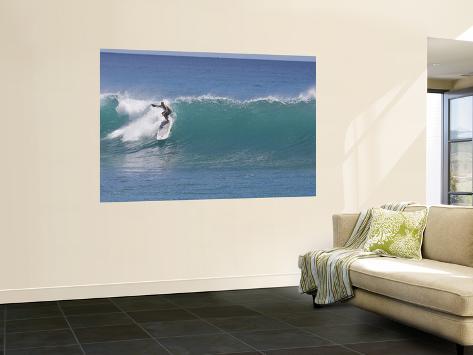 Surfing at Waikiki, Honolulu, Hawaii, USA Wall Mural