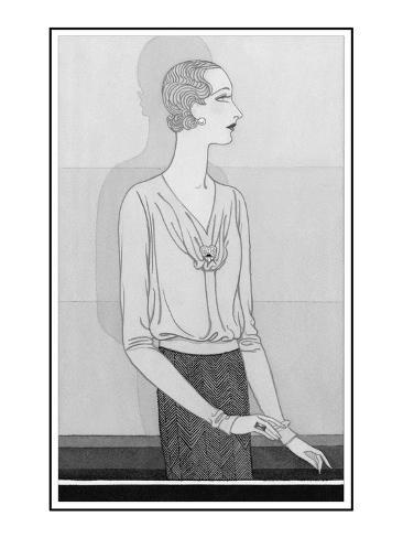 Vogue - November 1929 Stampa giclée premium