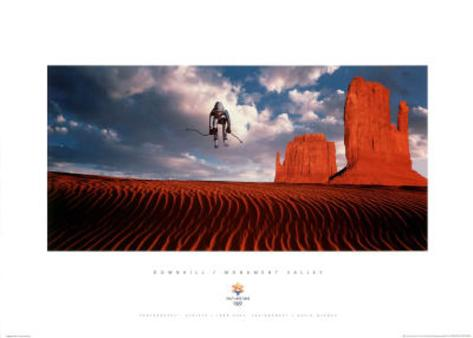 Downhill Monument Valley 2002 Salt Lake City Olympics Mini Poster