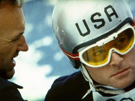 Downhill Racer, Gene Hackman, Robert Redford, 1969 Photo