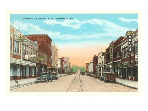 Downtown Centralia, Illinois Art Print