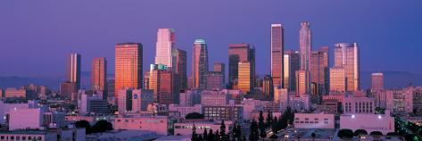 Downtown Los Angeles Skyline II Stretched Canvas Print
