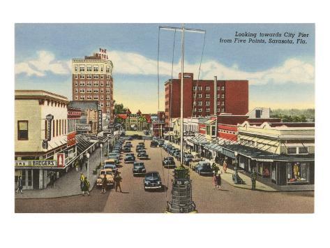 Downtown Sarasota, Florida Art Print