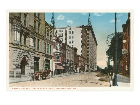 Downtown, Wilmington, Delaware Art Print