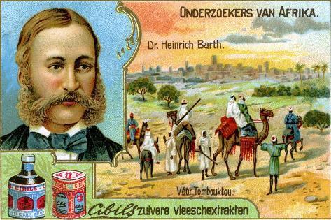 Dr Heinrich Barth, German Geographer and Explorer Giclee Print
