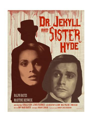 Dr. Jekyll and Sister Hyde 1971 (Blood) Stampa artistica