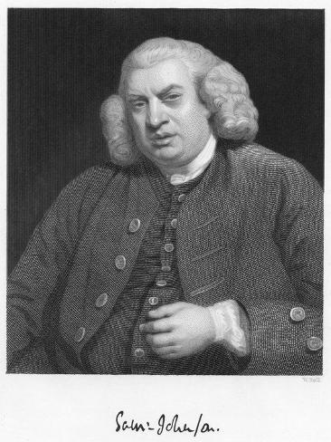Dr Johnson, 18th Century English Man of Letters Giclee Print