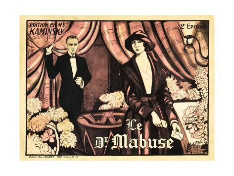 Dr. Mabuse: The Gambler, French poster art, 1922 Stampa artistica