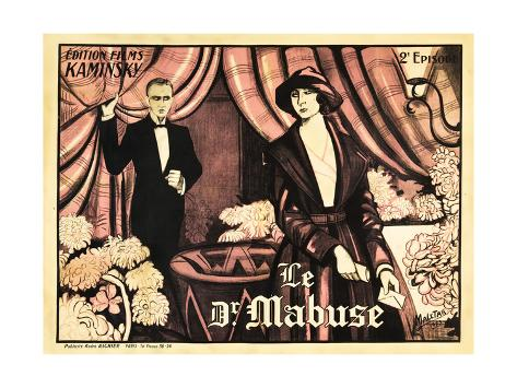 Dr. Mabuse: The Gambler, French poster art, 1922 Art Print