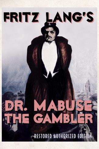 Dr Mabuse the Gambler Movie Fritz Lang Poster Print Poster