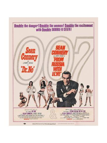 Dr. No, 1962; Double Bill, to Russia with Love, 1963 ジクレープリント